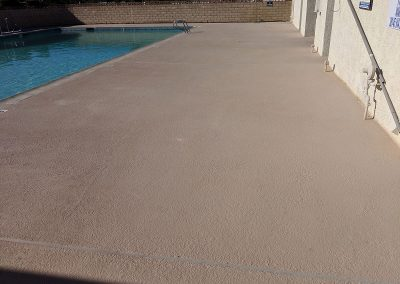 Large Textured Concrete Pool Deck