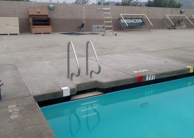 Repaired Pool Rails