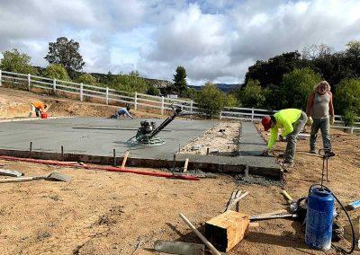 Concrete Pad Finishing